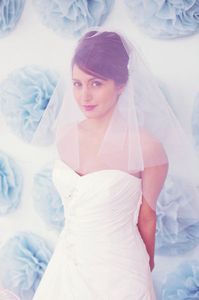 Two tier elbow length veil - Style #W012