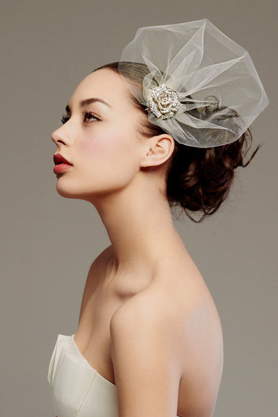 Couture inspired headpiece -Style #0030