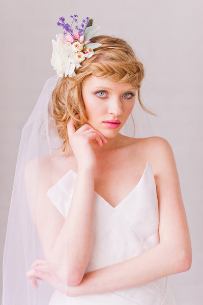 Floral Wire Crown Veil - Style #1317