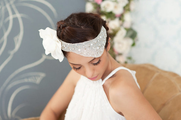 Crystals and Beads Headpiece Style#1219