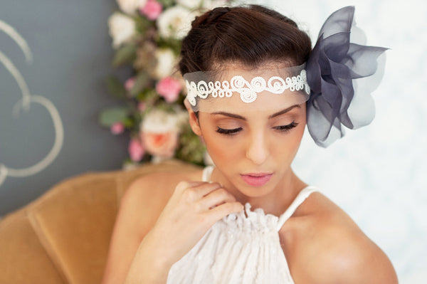 Embroidered Lace Headband  Style#1217