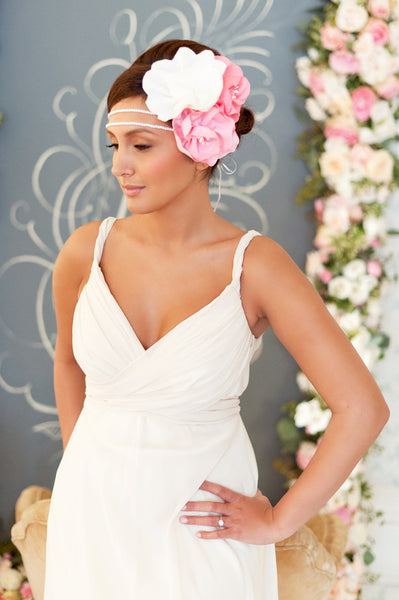 Pearls and Flowers Headband  Style#1222