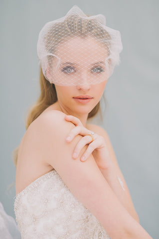 Net and Tulle Visor Blusher - Style #1409
