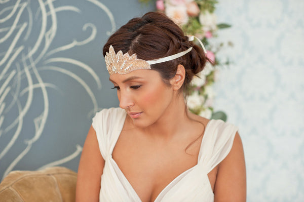 Beads and Rhinestones Headband Style#1213