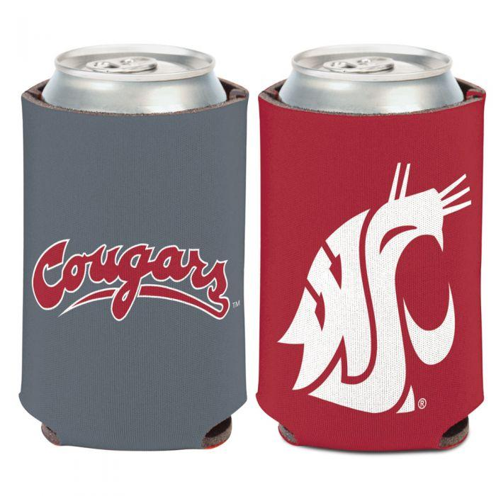Can Cooler - Washington State Cougars Primary Logo 12 Oz. Can Cooler