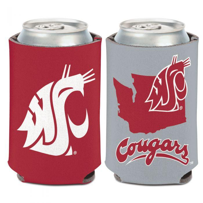 Can Cooler - Washington State Cougars State Shape 12 Oz. Can Cooler