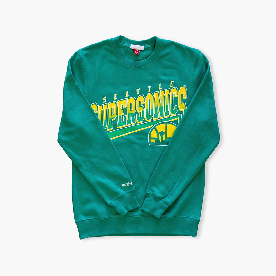 Crewneck - Seattle SuperSonics Green Throwback Crewneck