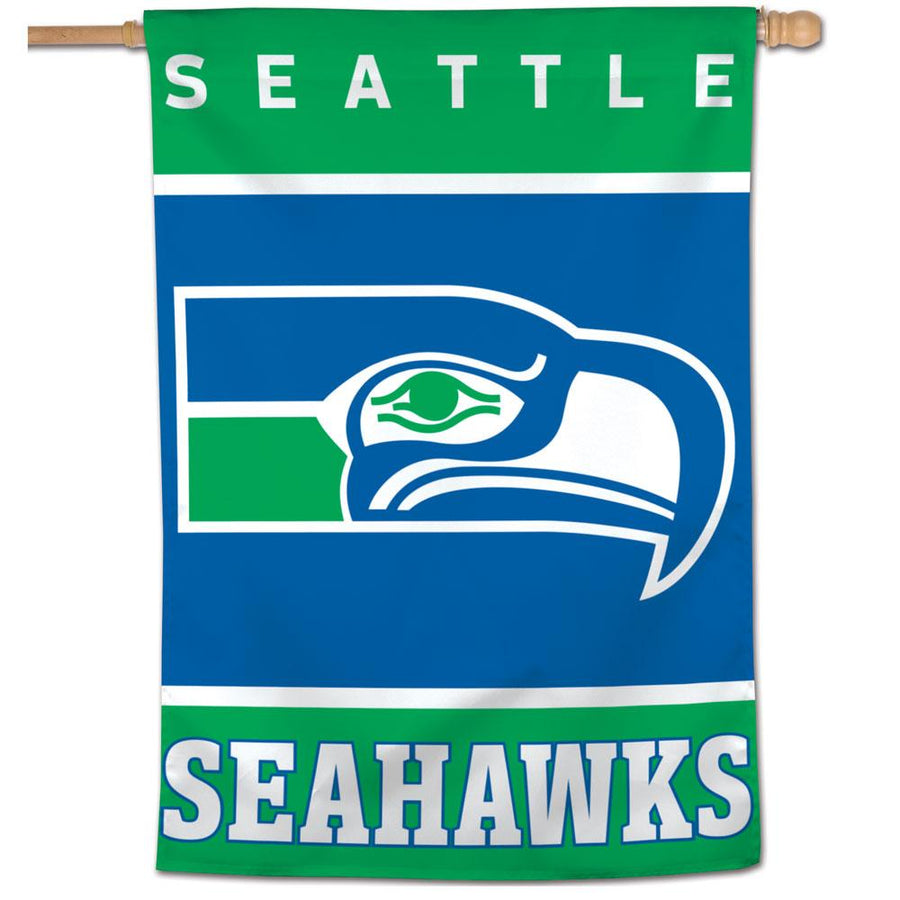 Flag - Seattle Seahawks Throwback Vertical Flag