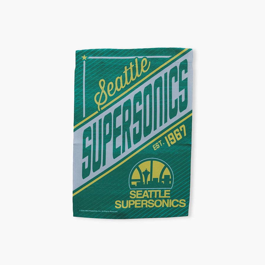 "Flag - Seattle SuperSonics 12.5""x18"" Double-sided Banner"