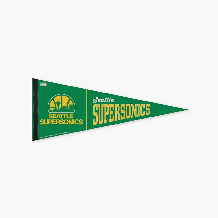 "Flag - Seattle SuperSonics 12"" X 30"" Premium Fan Pennant"