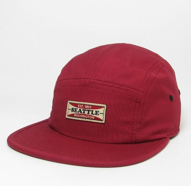 Hat - Burgundy Camper Seattle 5-Panel Hat