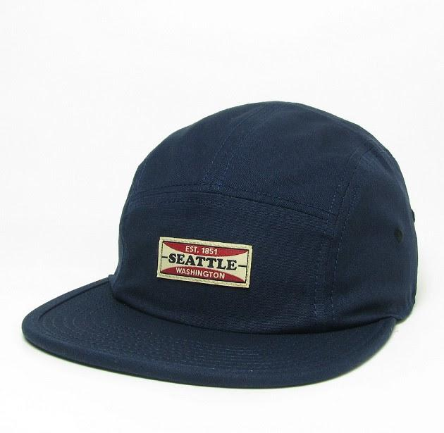Hat - Navy Camper Seattle 5-Panel Hat