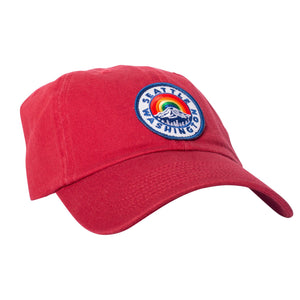 Hat - Seattle Mount Rainier Red Dad Hat