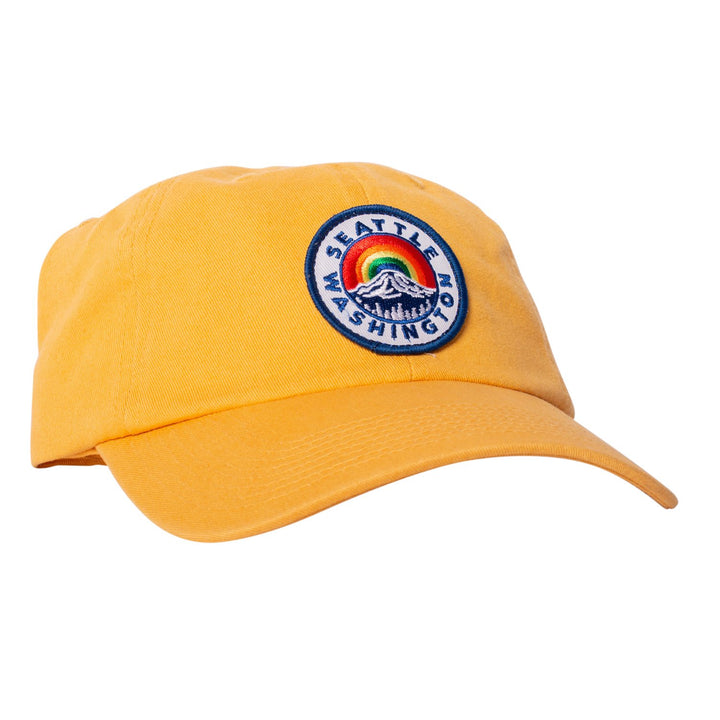 Hat - Seattle Mount Rainier Yellow Dad Hat