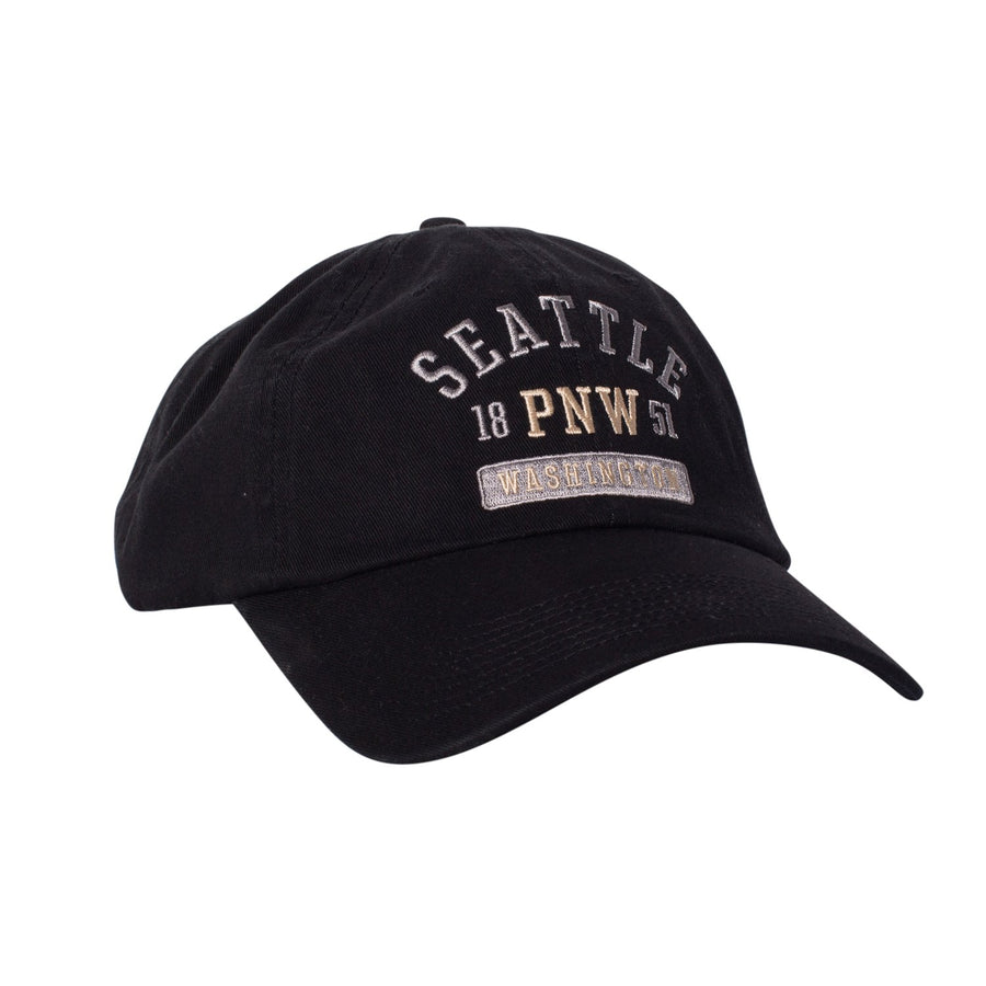 Hat - Seattle PNW 1851 Black Dad Hat