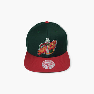 Hat - Seattle SuperSonics Green And Red Space Needle Snapback Hat