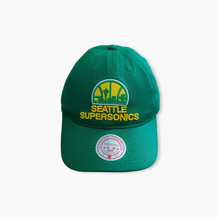 Hat - Seattle SuperSonics Original Green Skyline Dad Hat