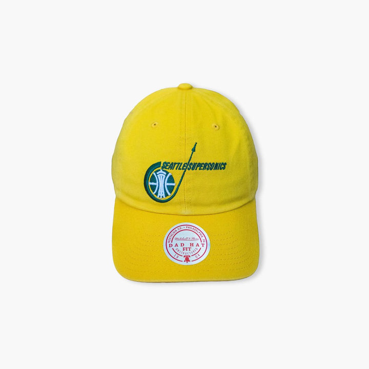 Hat - Seattle SuperSonics Original Yellow Rocket Ship Dad Hat