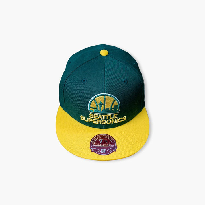 Hat - Seattle SuperSonics Skyline Two-Tone Fitted Hat