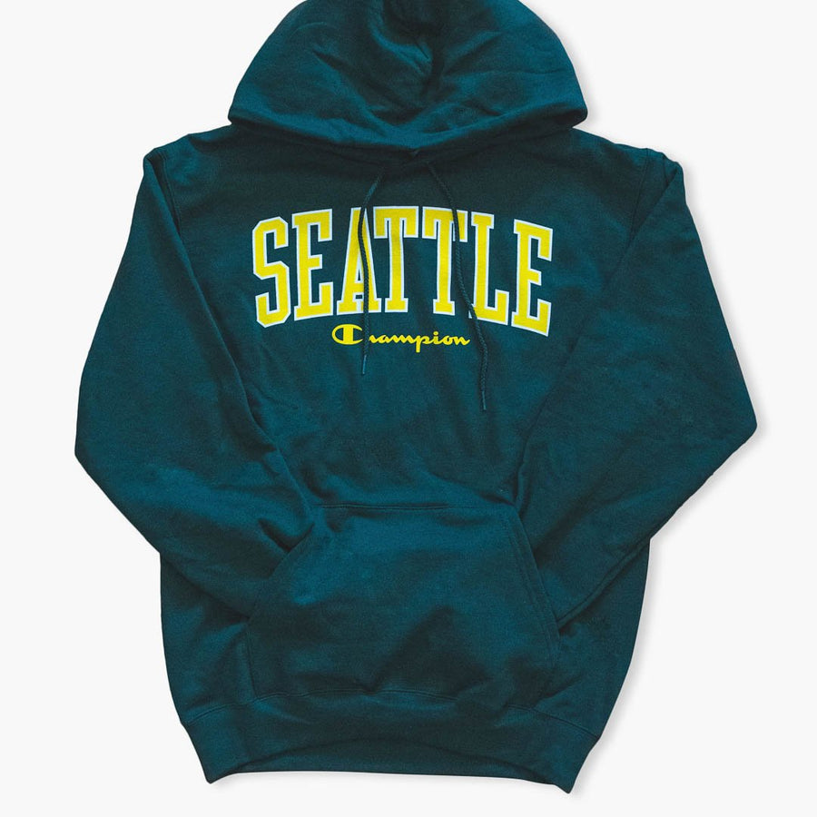 Hoodie - Seattle Champion Sonics Forest Green Hoodie