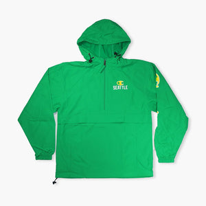 Jacket - Champion Seattle Sonics Kelly Green Windbreaker