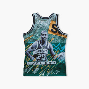 Jersey - Autographed By Shawn Kemp & Gary Payton - Just Don Seattle SuperSonics Shawn Kemp/Gary Payton Jersey