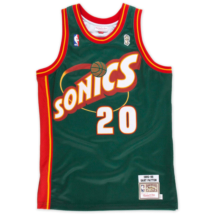 Jersey - Gary Payton 1996 Authentic Replica NBA Finals Jersey By Mitchell & Ness