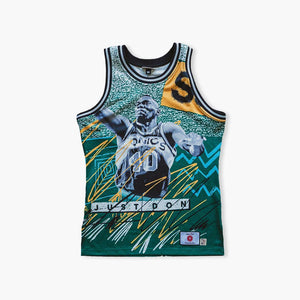 Jersey - Just Don Seattle SuperSonics Shawn Kemp/Gary Payton Jersey