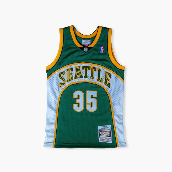Jersey - Kevin Durant Green Swingman Jersey By Mitchell & Ness