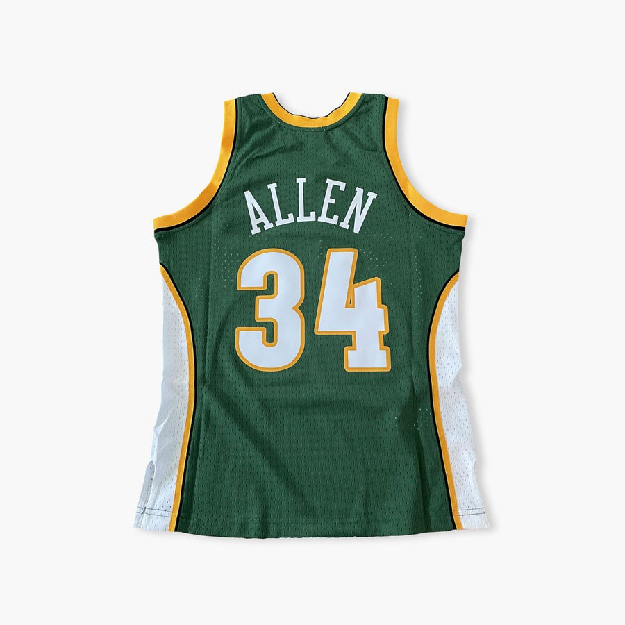Jersey - Ray Allen Swingman Green Jersey By Mitchell & Ness