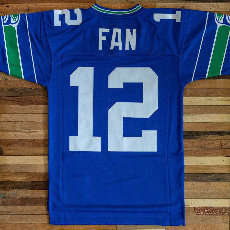 Jersey - Seattle Seahawks Throwback 12th Fan Replica Blue Jersey