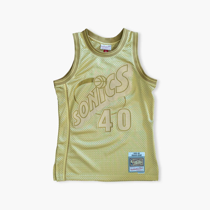 Jersey - Shawn Kemp Midas Gold Jersey By Mitchell & Ness
