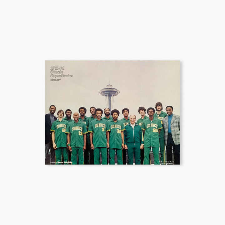 Poster - Seattle SuperSonics Vintage 1975-76 Team Photo Poster