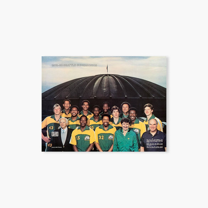 Poster - Seattle SuperSonics Vintage 1979-80 Team Photo Poster