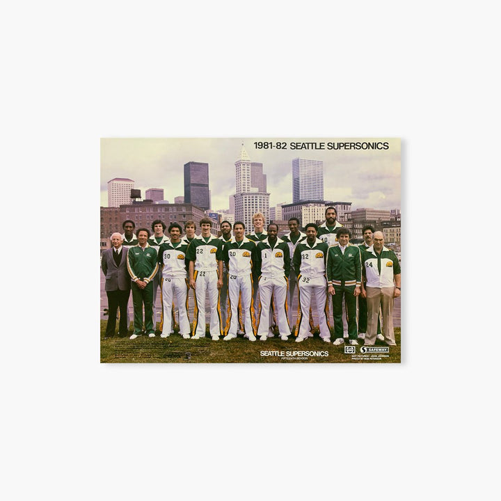 Poster - Seattle SuperSonics Vintage 1981-82 Team Photo Poster