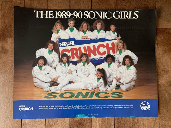 Poster - Seattle SuperSonics Vintage 1989-90 Sonics Girls Poster