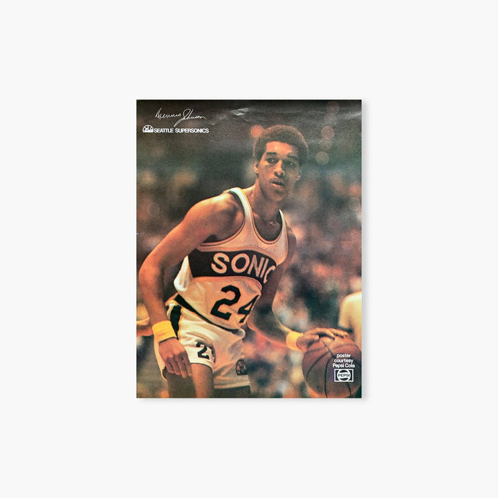 Poster - Seattle SuperSonics Vintage Dennis Johnson Poster