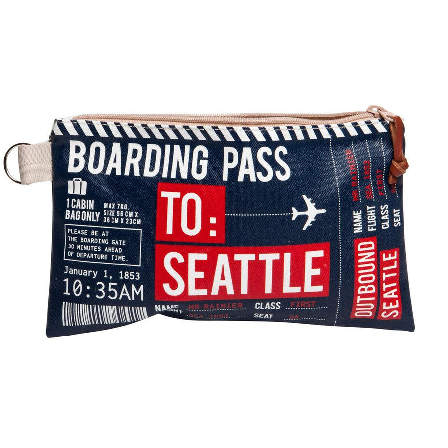 Pouch - Chalo Navy Seattle Boarding Pass Mini Pouch