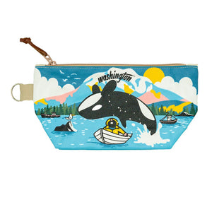 Pouch - Chalo PNW Leaping Orca Pouch
