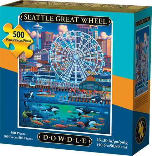 Puzzle - Seattle Great Wheel Jigsaw Puzzle