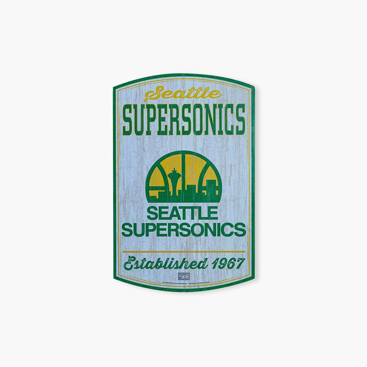 Sign - Seattle SuperSonics Wooden Fan Decorative Sign