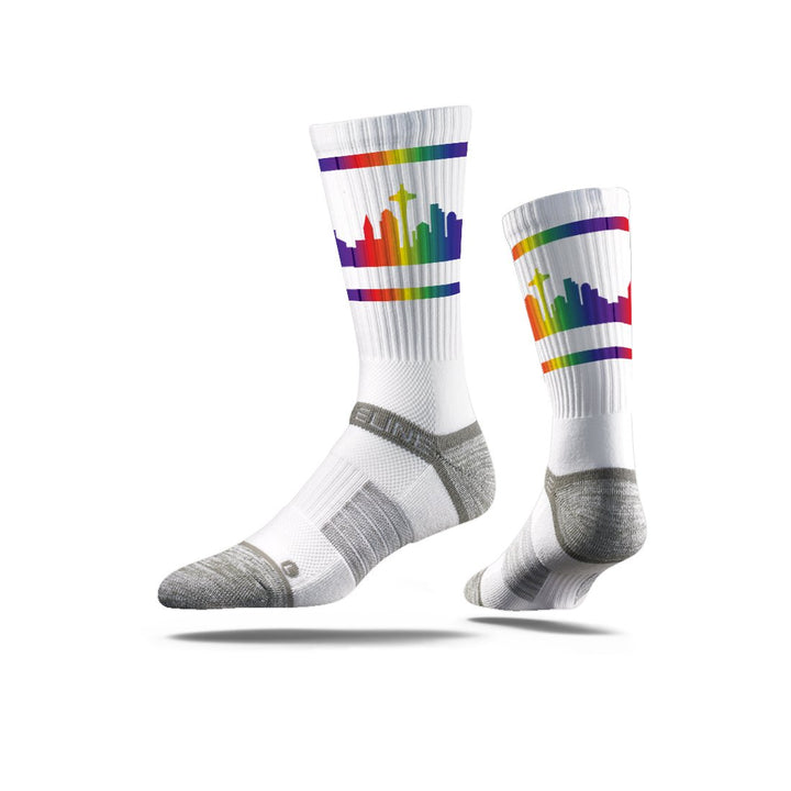 Socks - Seattle City Skyline Pride Socks