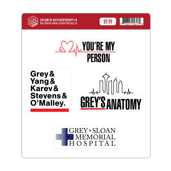 Sticker - Grey's Anatomy Sticker Pack