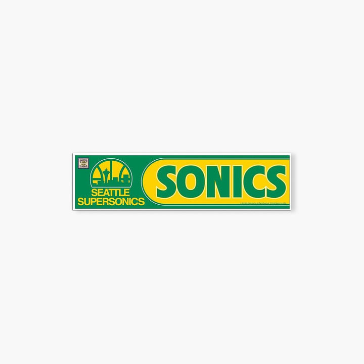 Sticker - Seattle SuperSonics Bumper Sticker