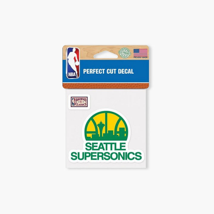 "Sticker - Seattle Supersonics Full Color Die Cut Decal - 4"" X 4"""