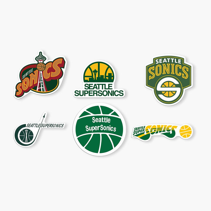 Sticker - Seattle Supersonics Sticker Pack