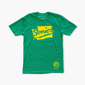 T-Shirt - Seattle SuperSonics State Shape T-Shirt