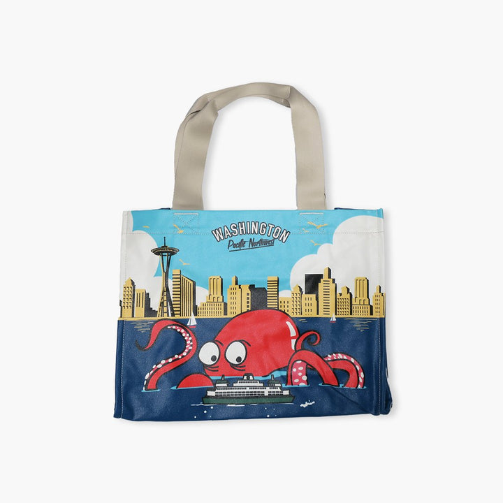Tote - Chalo Seattle Octopus Skyline Tote