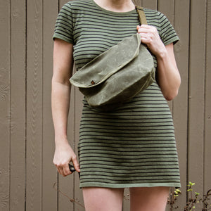 """LACEWING"" CROSSBODY BAG- Olive"