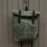 Load image into Gallery viewer, ROLL TOP BACKPACK- Olive